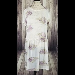 Xhilaration white sheer floral embroidered coverup